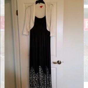 Spaghetti strap dress & cardigan